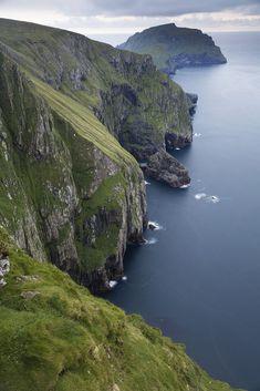 "wanderthewood: ""Sea cliffs at Hirta, St Kilda, Outer Hebrides, Scotland by "" St Kilda Scotland, Sea Cliff, Outer Hebrides, Scottish Islands, Travel Goals, Travel Inspiration, Painting Inspiration, Beautiful Places, Wonderful Places"
