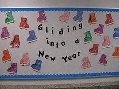 New Year bulletin board idea