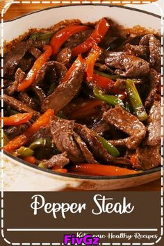 easyrecipes vegetables easydinner delishcom veggies takeout chinese delish recipe pepper dinner steak night beats beef Pepper Steak Pepper Steak beats takeout any night of the week Get the recipe at You can find Beef steak recipes and more on our website Steak Marinade Recipes, Easy Steak Recipes, Grilled Steak Recipes, Healthy Diet Recipes, Healthy Meal Prep, Vegetarian Recipes, Cooking Recipes, Cooking Tips, Pepper Steak Recipe Easy