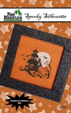 Spooky Silhouette Kit - Cross Stitch Kit  by Pine Mountain Designs
