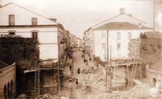Obras de construción da Porta de Emilio Castelar, Lugo; 1919