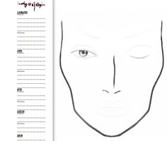 face chart! Really simple so that you can add stuff like mascara and lip liner yourself!