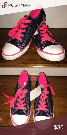 HOT PINK AND DENIM CONVERSE Hot pink and denim brand new converses! Converse Shoes Sneakers