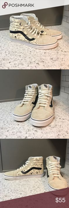 101 Dalmatian Vans SK8-HIs Very good condition, leather detailing, Dalmatian print hightop vans. Worn once. Vans Shoes Sneakers