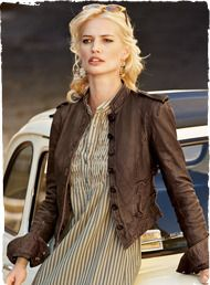 """OMG this jacket.  """"Gran Prix"""" from The Peruvian Connection.  $398"""