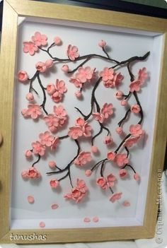 The painting, murals, Master Class Kvilling: Sakura + Mini MK paper strips. Photo 4