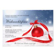 weihnachtsfeier einladung save the date karte save the. Black Bedroom Furniture Sets. Home Design Ideas