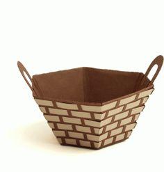 Silhouette Online Store - View Design #40729: 3d basket - woven 2 handles