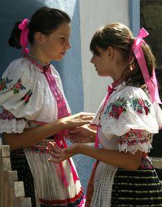Kroje a tak : Photo Hrušov village, Hont region, Central Slovakia. Folk Costume, Costumes, Big Bows, Czech Republic, Saree, Culture, Diversity, Iris, Design