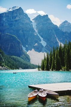 Travel Canada to see Lake Louise in Alberta.
