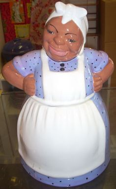 Charming Black Americana Aunt Jemima cookie jar by jazzejunqueinc, $95.00 Visit our web site at www.jazzejunque.com