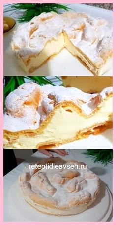 All Time Easy Cake : Pie Karpatka: incredibly tasty and easy . Cheesecake Recipes, Pie Recipes, Sweet Recipes, Cooking Recipes, Homemade Cheesecake, French Dessert Recipes, Egg Recipes For Breakfast, Italian Desserts, Cold Desserts