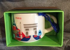 Starbucks Paris France Mug YAH Ornament Demi You Are Here Christmas New Coffee #Starbucks