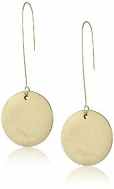 Lucia K Jewelry Tag Signature Antiqued Gold Medallion Earrings