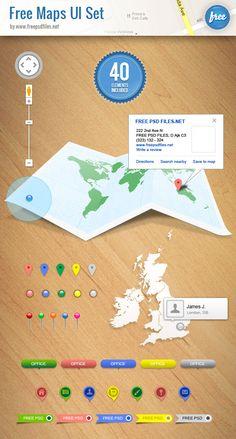 Free Maps UI Kit