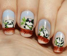 Tree Panda Nails