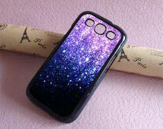 Samsung Galaxy S4 case, Glitter Samsung Galaxy S5 case Galaxy S3 case Hard Rubber case