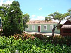 Praça central de Carmo do Rio Claro, Minas Gerais - BRASIL