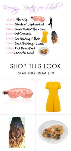 Morning Routine for School by purplebee3 on Polyvore featuring interior, interiors, interior design, home, home decor, interior decorating, Warehouse, BackToSchool and teen
