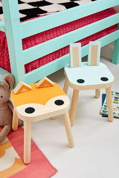 Here's a hack for the kids or for the kid inside of you! All you are going to need is a Fisat Stool…some paint and a few odds and end and in NO time at all you are going to have the most whimsical…adorable…precious stools ever! Great for the Nursery…the Kids Room…Family Room…Kitchen or how …