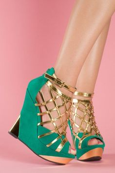 #wedges,  #shoes  trendy  wedge  style  #green