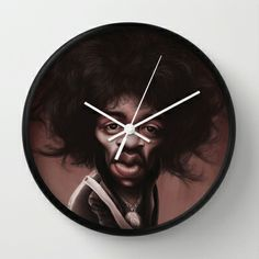#JimiHendrix Wall Clock by Sant Toscanni - $30.00