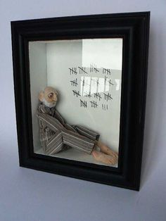 Sadly How Some Many Elderly feel still living at home or in nursing home or homeless! Heartbreaking... A Previous Pinner: Laura Meredith - polymer clay and fabric