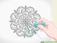 """How to Draw a Mandala. Mandalas are circular designs with repeating shapes and they often hold spiritual significance. The word """"mandala"""" comes from the Sanskrit word for circle. Many people find drawing mandalas to be a very centering and. Mandala Art Lesson, Mandala Artwork, Mandala Drawing, Dot Painting, Silk Painting, Doodle Art Designs, Mandala Coloring, Zentangle Patterns, Linocut Prints"""
