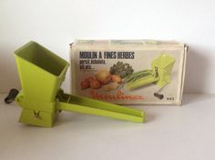 Vintage Herb Mill Moulinex Manual Herb Mill Mincer by FadoVintage Le Moulin, Kitchen Utensils, Vintage Green, Vintage Gifts, Manual, Herbs, The Originals, Retro, Shop