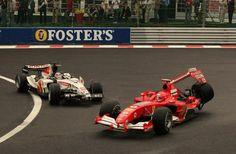 Michael Schumacher , Takuma Sato Spa 2005
