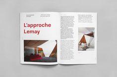 Art Direction for Intérieurs magazine, a bilingual publicationof three issues per year about culture of design and architecture.—Nous voulions relever un nouveau défi, ça tombait très bien. Nous avons proposé à Brigitte et Ginette de l'Agence PID de re…