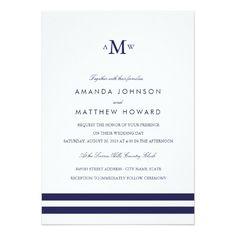 Nautical Wedding Monogram