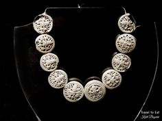 Silver Necklace, Northern Coast (1-1532 CE). Larco Museum, Lima