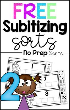 These free number sense worksheets are the perfect preschool and kindergarten math activity to help students learn numbers Subitizing is such a great way to build number sense! Subitizing Activities, Kindergarten Math Activities, Preschool Education, Preschool Math, Math Classroom, Teaching Math, Math Games, Math Resources, Teaching Ideas