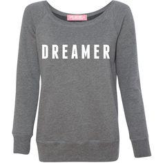 Dreamer beverly sweatshirt (405 BRL) ❤ liked on Polyvore featuring tops, hoodies, sweatshirts, slouchy oversized sweatshirt, oversized off shoulder top, oversized sweatshirts, slouchy off the shoulder tops and off the shoulder sweatshirt