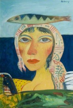 John Bellamy, Woman of the North Sea Art And Illustration, Illustrations, John Bellany, Modern Art, Contemporary Art, Glasgow Museum, Royal College Of Art, Sketchbook Inspiration, Art Uk