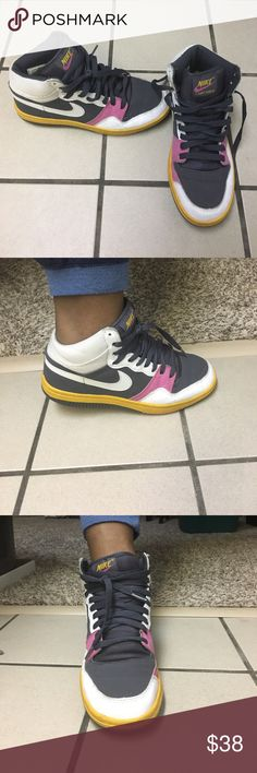 Nike Court Force Awesome Retro Nike dunks with dope color scheme. Used but still in Ok condition Nike Shoes Sneakers