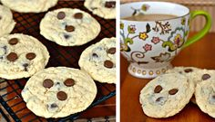 Casual Chic Chocolate Chip Sugar Cookies  Ingredients: 1 cup unsalted butter, softened 1 ½ cup granulated sugar 2 large eggs 2 ¾ cup all pur...