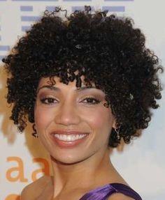 Curly Bangs. Love it!