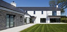 Drumlins Eco House, Co. Down — Paul McAlister Sustainable and Passive House Architects - Portadown, Belfast, Northern Ireland Modern Barn House, Modern House Plans, House Designs Ireland, Passive House Design, Ireland Homes, House Ireland, Rural House, Modern Farmhouse Plans, Farmhouse Ideas