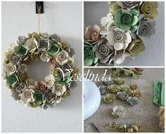 Recycling, Diy Recycle, Diy And Crafts, Paper Crafts, Decorated Wine Glasses, Egg Carton Crafts, Plastic Bottles, Christmas Wreaths, Eggs