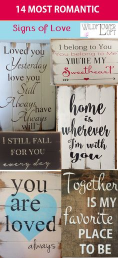 Beautiful Hand-made signs WildflowerLoft on Etsy.com