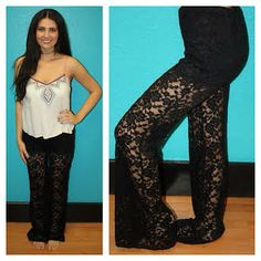 """""""Love for Lace"""" Pants! Get them here>> http://www.smalltowngypsy.com/catalog.php?item=3250"""