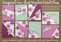 Fun Fold Cards, Folded Cards, Easy Cards, Card Making Templates, One Sheet Wonder, Card Tutorials, Card Sketches, Paper Crafts, Card Crafts