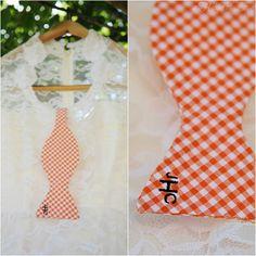 The groom and groomsmen wore #monogrammed, #gingham #bow-ties!