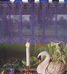 Crochet Pattern Fan Valance Curtain Instructions | eBay