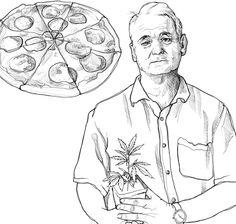 Bill, Weed & Pizza, Sketch, 2014 Weed, Pizza, Sketch, Illustration, Art, Sketch Drawing, Art Background, Kunst, Marijuana Plants