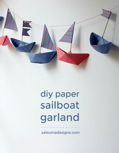 how to fold a paper boat garland | boat origami | paper boat garland | nautical birthday party | birthday decor