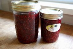 Raspberry Jam - only two ingredients (Putting It Up with Honey by Susan Geiskopf)