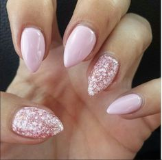 Glitter and pink polish is the perfect combo for a Spring mani! {: @rsteen17} #MarilynMonroeSpas #MMSMillsPark #MarilynMani Nail Design, Nail Art, Nail Salon, Irvine, Newport Beach